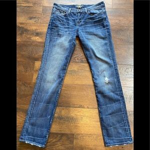 Lucky Brand Sweet n Straight Jeans sz 28~ Distress
